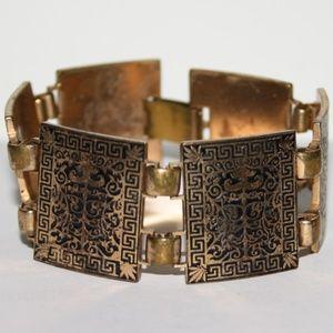 Stunning vintage gold bracelet 7 inches